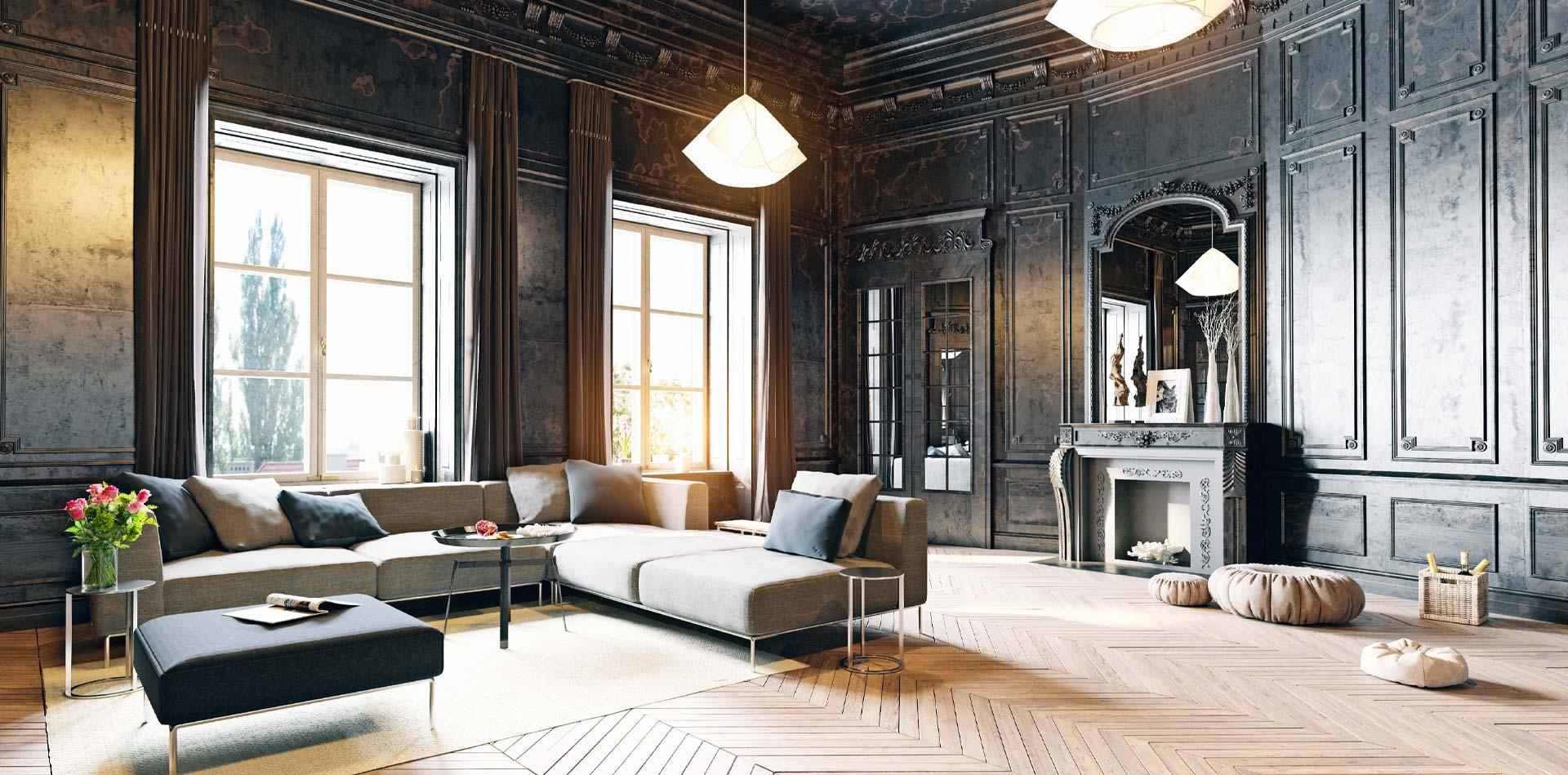 Salon d'un appartement de luxe à paris