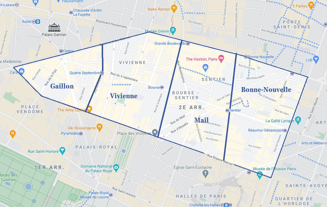 Carte Paris 2ème arrondissement